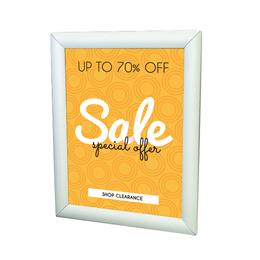 "Single-Sided LED Wall Mount Display Frame - 18"" x 24"" - Silver"